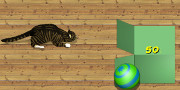 Cat Box Bowling game